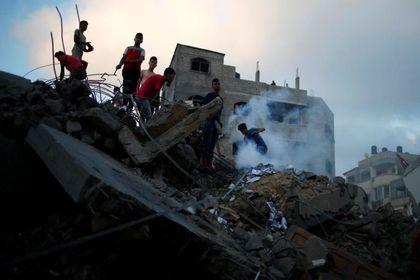 غزه بعد از حمله وحشیانه جنگندههای اسراییلی +تصاویر