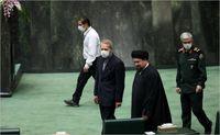 رییس سابق مجلس در افتتاحیه مجلس یازدهم +عکس