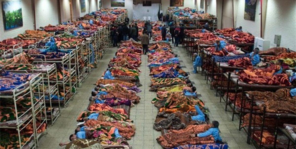 مراجعه بیشاز 2هزار بیخانمان به گرمخانههای تهران