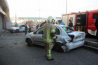 تصادف شدید تیبا و زانتیا در بزرگراه سعیدی +عکس