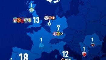 کشورهای رکورددار قهرمانی در لیگ قهرمانان اروپا