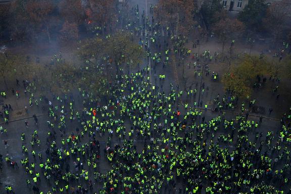 تظاهرات دانش آموزان علیه دولت فرانسه در پاریس +فیلم
