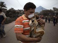 خرابیهای حاصل از آتشفشان گواتمالا +تصاویر