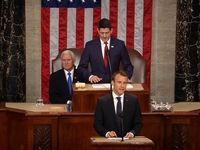 مکرون در کنگره آمریکا: به هیچ وجه از برجام خارج نخواهیم شد