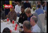 شاهزاده انگلستان پای سفره افطار مسلمانان +فیلم